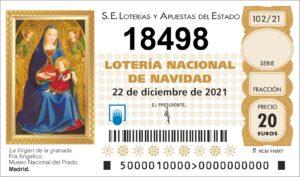 Buscar 18498 Lotería Navidad 2021