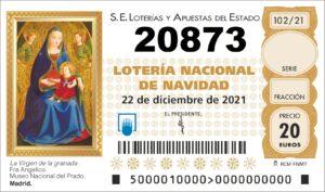 NUMERO LOTERIA NAVIDAD 20873