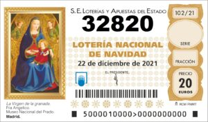 comprar numero 32820 loteria de navidad 2021