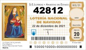 comprar numero 42812 loteria de navidad 2021